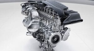 Motor microhíbrido de Mercedes Benz