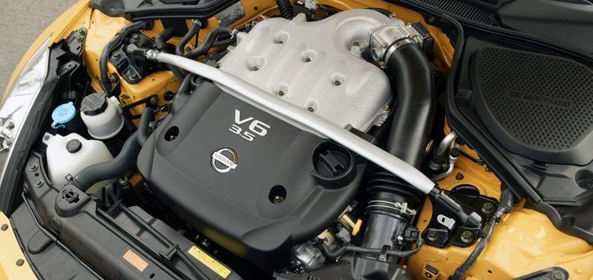 Motor de seis cilindros en uve de Nissan