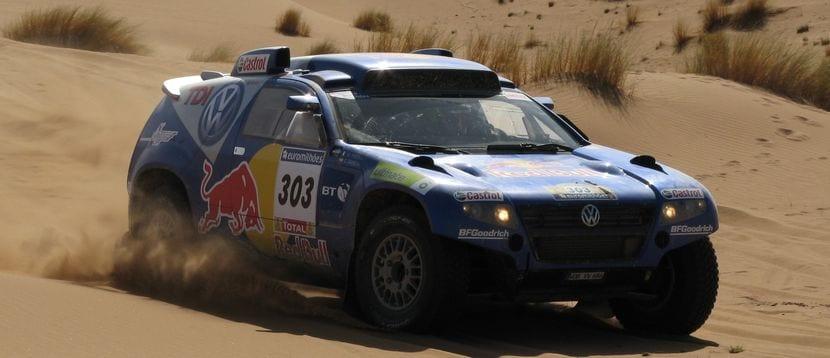 Volkswagen Touareg con el que corrió Carlos Sainz