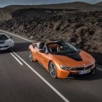 BMW i8 Roadster y Coupé en carretera
