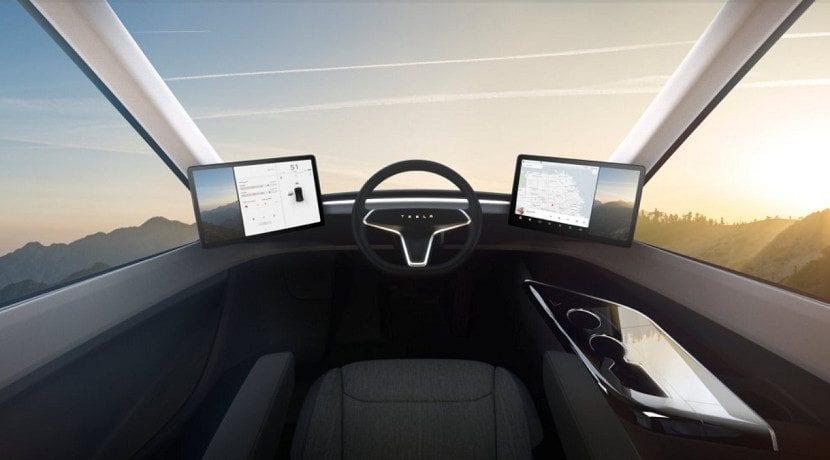 Cabina del camión de Tesla