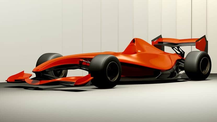 F1 futurista y minimalista