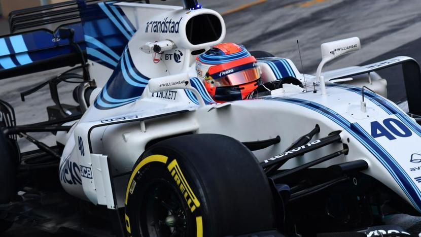 Kubica con el Williams de 2017
