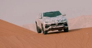 Video teaser del Lamborghini Urus en las dunas