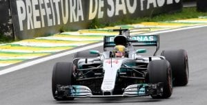 Hamilton en el GP de Brasil