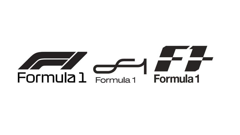 Nuevos logos en blanco y negro de F1
