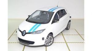 """Renault Zoe autónomo llamado """"Callie"""" maniobra de esquiva"""