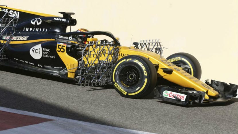 Renault F1 con sensores
