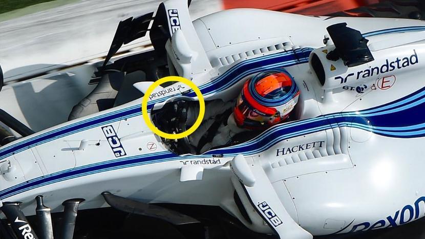 Williams modificado en su cockpit para Kubica