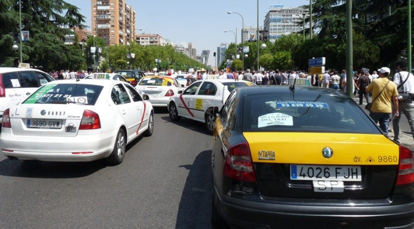Protesta Taxis Vs Uber
