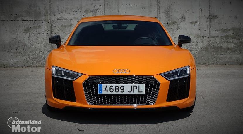 Prueba Audi R8 frontal