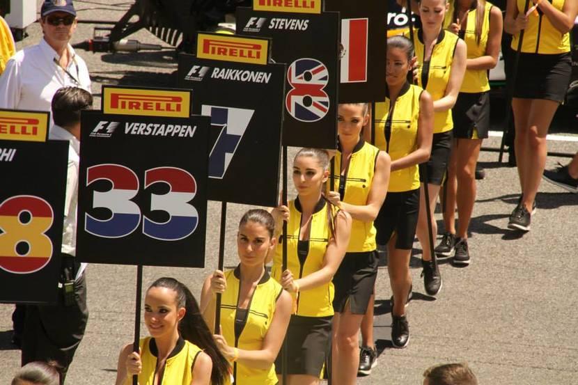 Azafatas de la F1