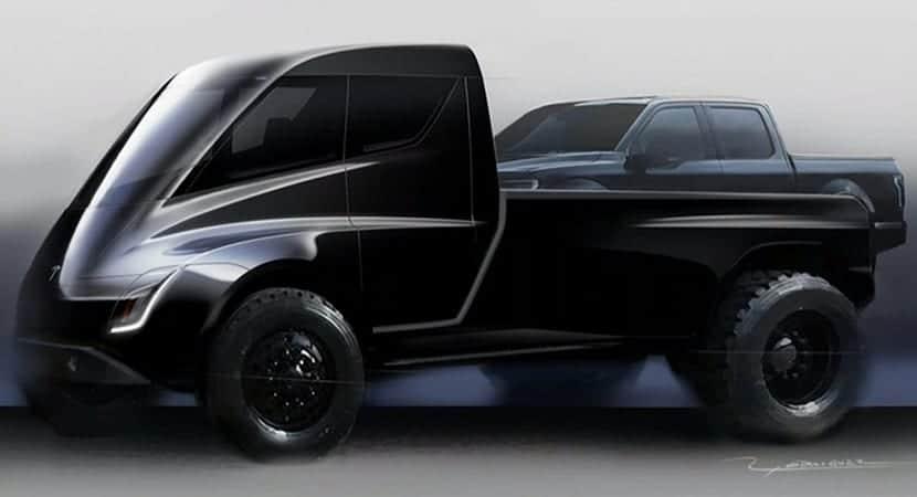 Boceto Tesla Pick-up