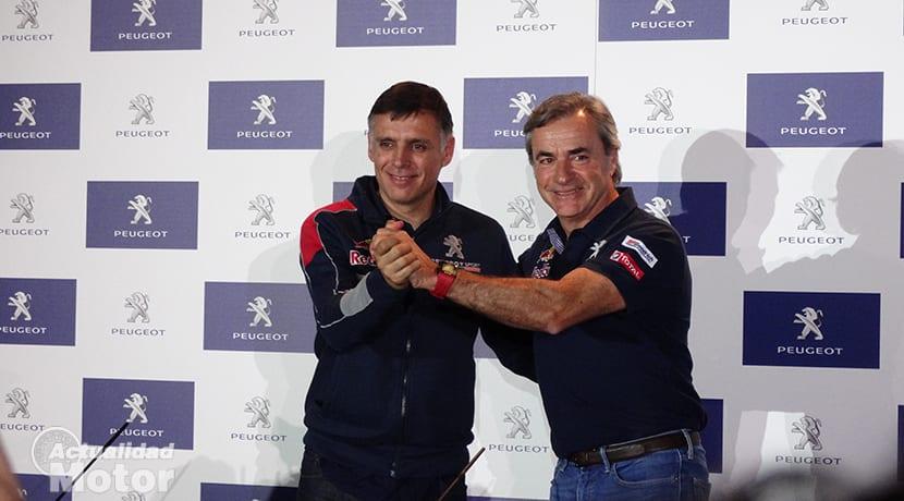 Carlos Sainz y Lucas Cruz Dakar 2018