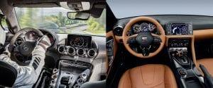 Carrera de aceleración Mercedes-AMG GT R contra Nissan GT-R