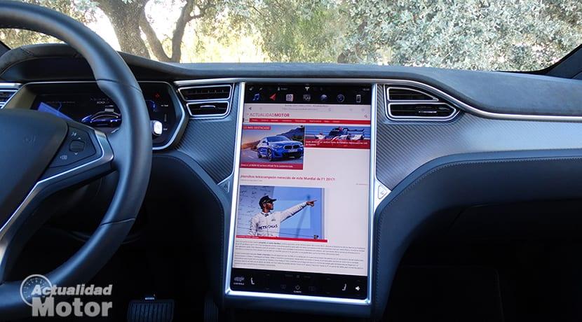 Pantalla principal Tesla Model X