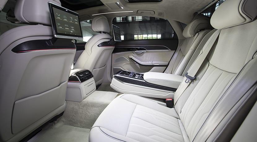Plazas traseras del Audi A8 L