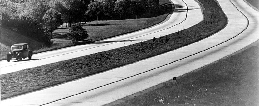 Tramo de Autobahn en 1936