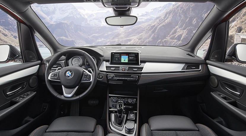 Interior BMW Serie 2 Active Tourer y BMW Serie 2 Gran Tourer