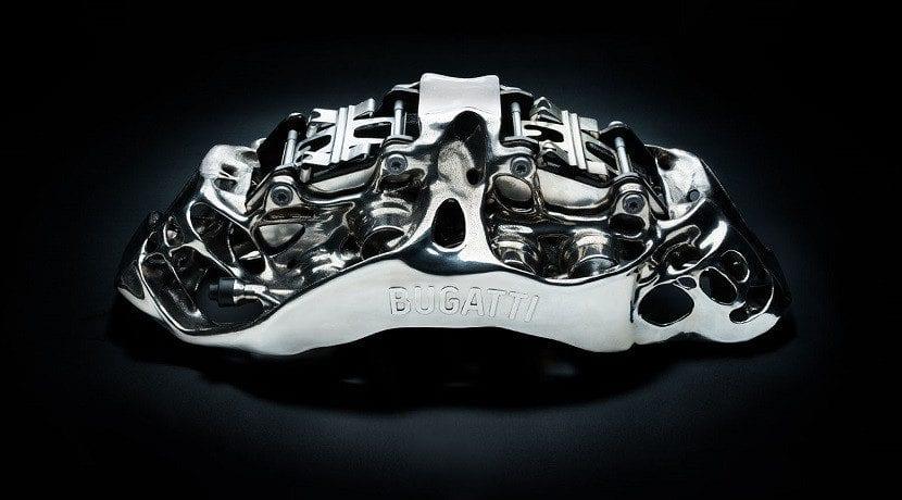 Pinzas de de freno de titanio Bugatti Chiron