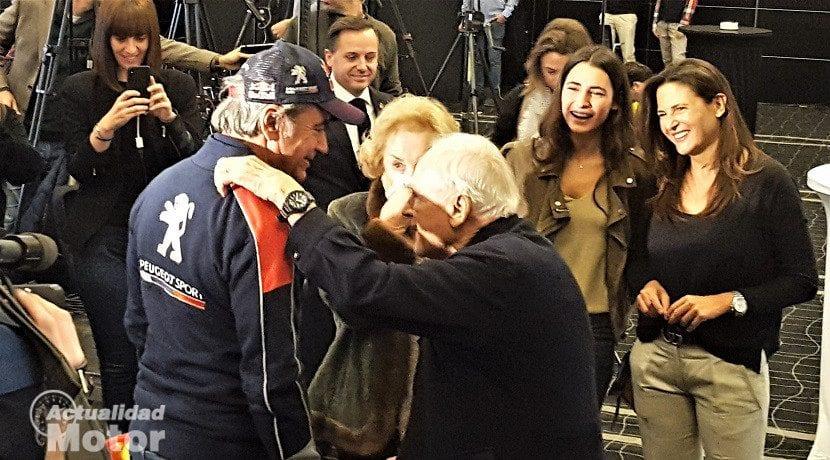 Enhorabuena a Carlos Sainz por parte de sus padres