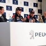 Rueda de prensa de Peugeot con Carlos Sainz y Lucas Cruz
