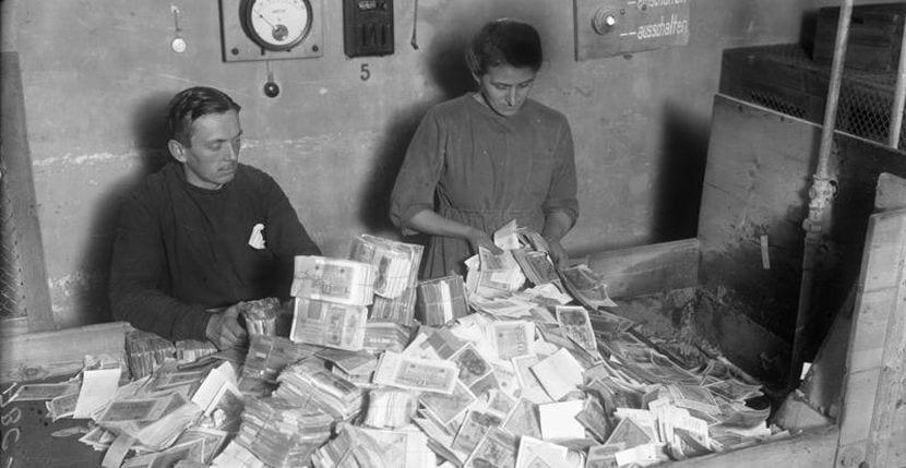 Hiperinflación en la república de Weimar