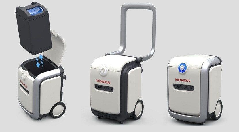 Transportador de baterías intercambiables de Honda