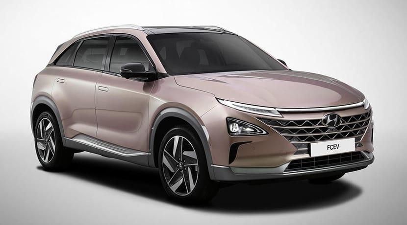 Hyundai FCEV con pila de hidrógeno para el CES 2018 de Las Vegas