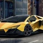 Frontal del Lamborghini Forsennato en amarillo