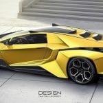 Lateral del Lamborghini Forsennato en amarillo