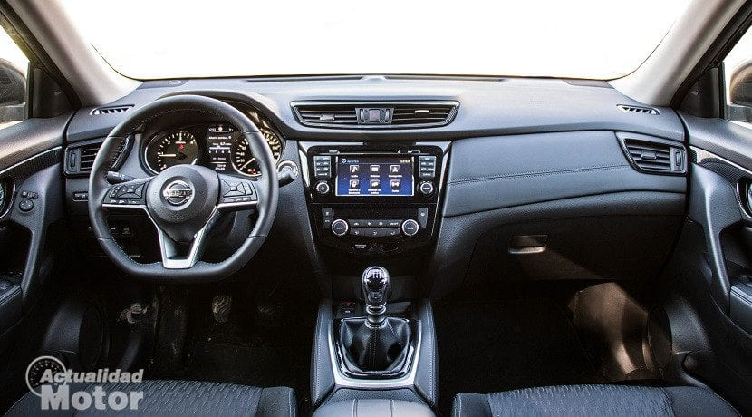 Interior del Nissan X-Trail