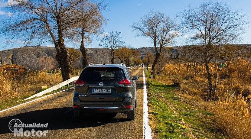 Trasera del Nissan X-Trail