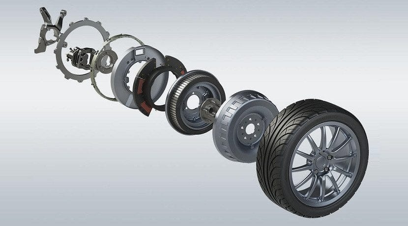 componentes y funcionamiento del Motor en rueda eléctrico de Protean Electric