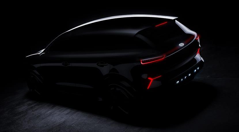 Prototipo Kia Niro eléctrico para el CES 2018 de las Vegas