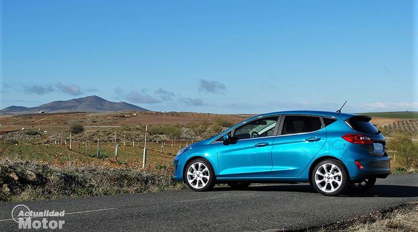 Prueba Ford Fiesta lateral trasera