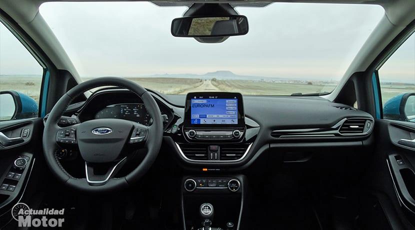 Diseño interior del Ford Fiesta