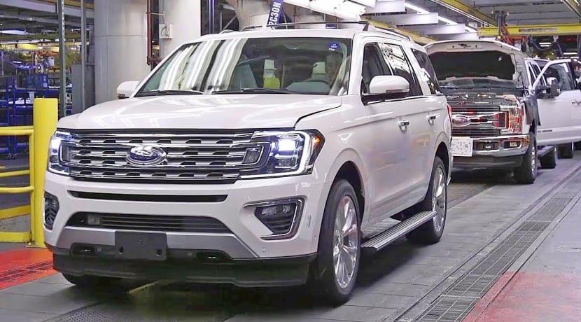 Ford Expedition 2018 cadena montaje