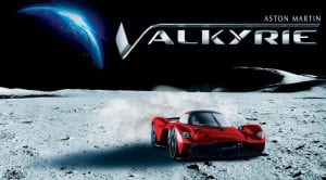 Aston Martin Valkyrie con polvo lunar en la pintura