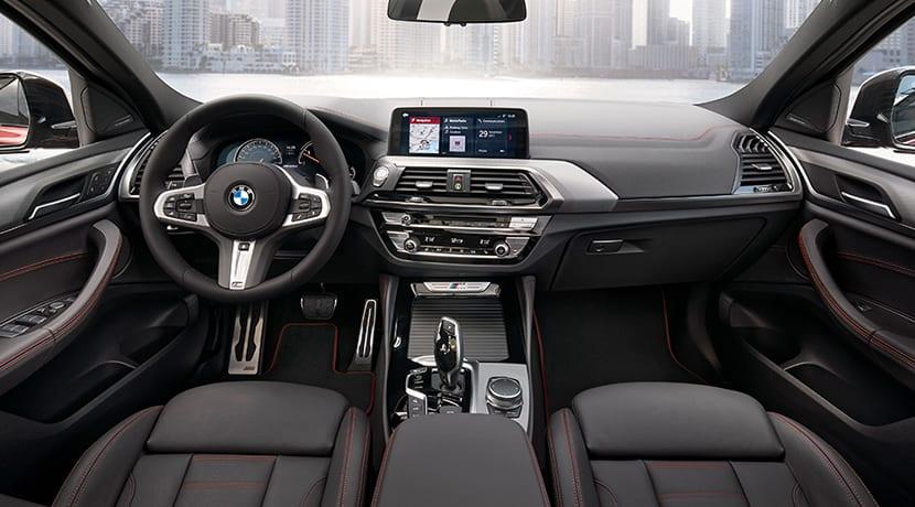 Diseño interior del BMW X4
