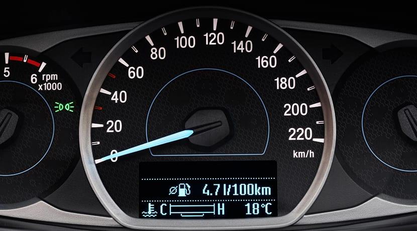 Cuadro de instrumentos del Ford Ka+