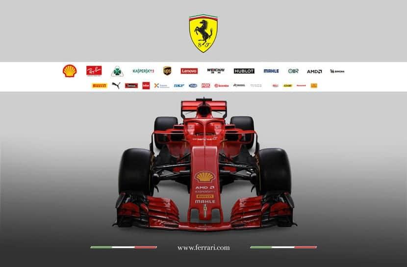 Patrocinadores y el Ferrari SF71-H
