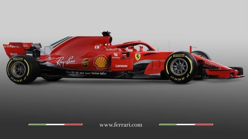Lateral del Ferrari SF-71