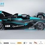 Lateral de la Segunda generación de coches Fórmula E