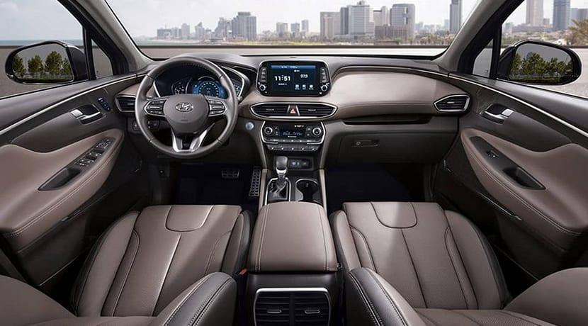 Interior del Hyundai Santa Fe