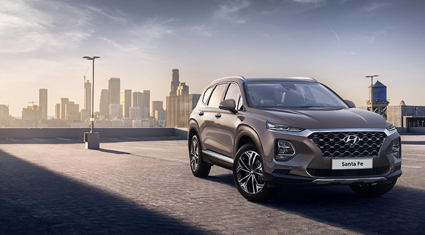 Frontal del Hyundai Santa Fe