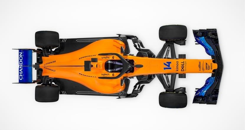Vista desde arriba del MCL33 de McLaren