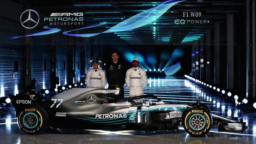 Lateral del Mercedes W09