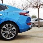 Prueba Hyundai i30 Fastback detalle de la trasera