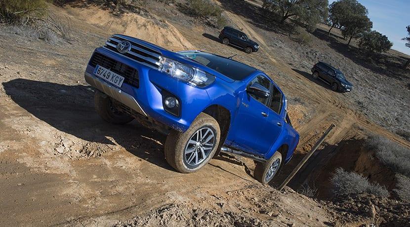 Prueba Toyota Hilux y Toyota Land Cruiser
